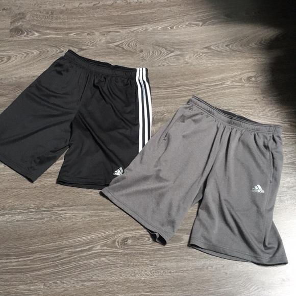 Men's bundle adidas soccer workout shorts